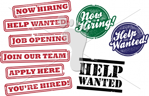 Now Hiring Employment Graphics