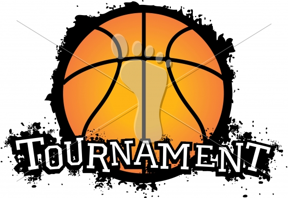 Vector Basketball Tournament Graphic