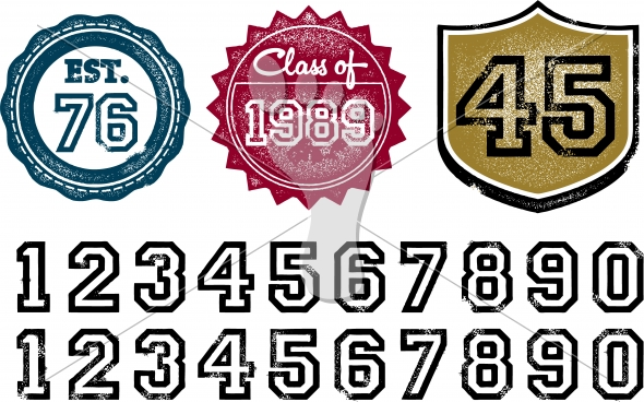 Class of… Graduation or Business Established Year Stamps