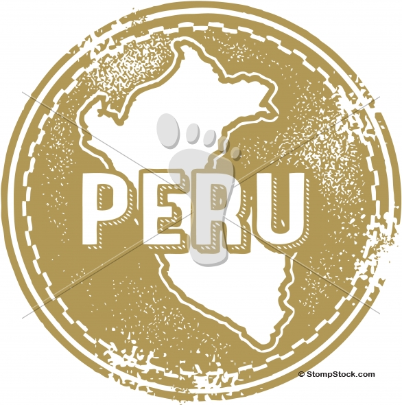 Vintage Peru South America Stamp – Seal