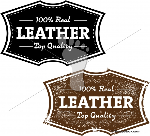 100% Real Leather Product Label