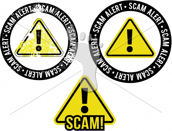 Scam Alert Warning Graphic