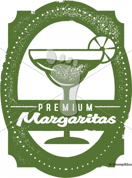 Premium Margaritas Bar Menu Stamp