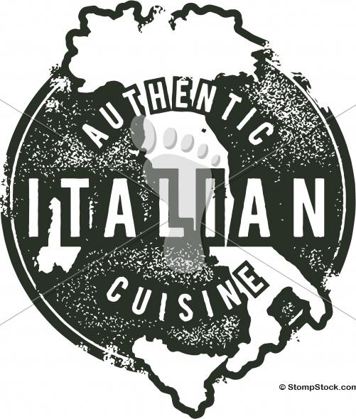 Vintage Italian Restaurant Menu Stamp