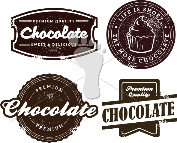 Vintage Chocolate Dessert Graphics