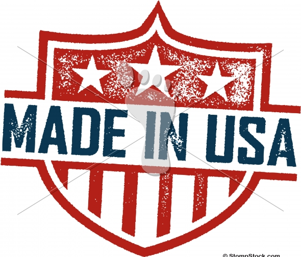 Made in USA Vintage Distressed Vector