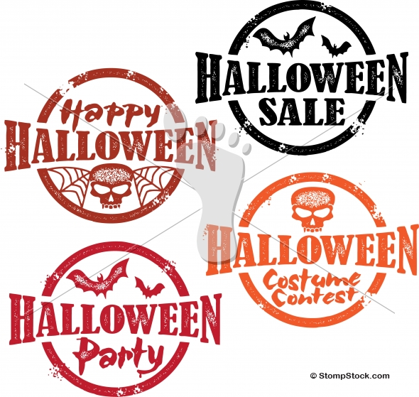 Happy Halloween Party and Sale Graphics