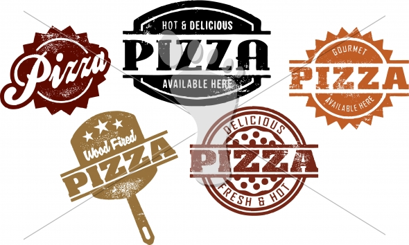 Vintage Pizza-Pizzeria Menu Graphics