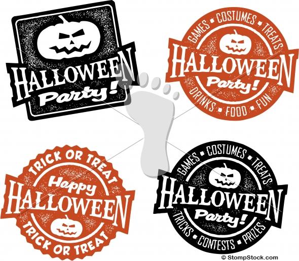 Halloween Party Invitation Graphics