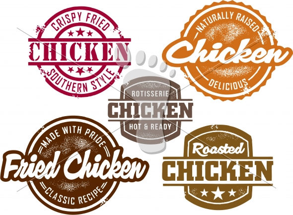 Fried and Roasted Chicken Menu Graphics