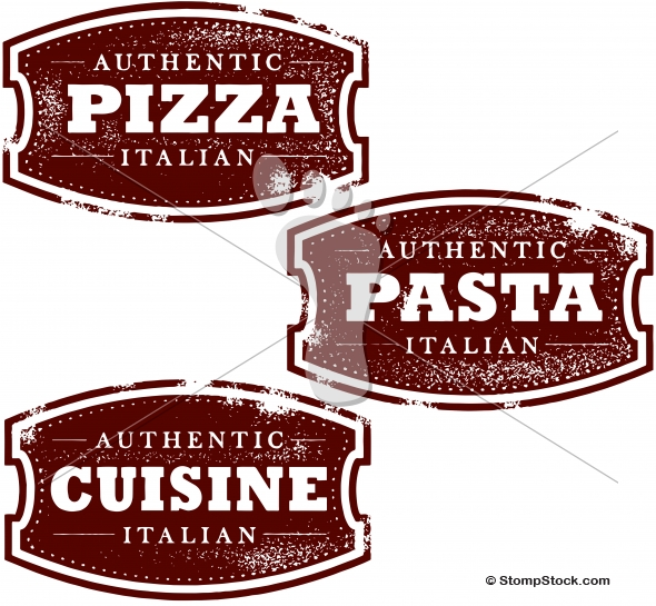 Vintage Italian Food – Pizza – Pasta – Menu Signs