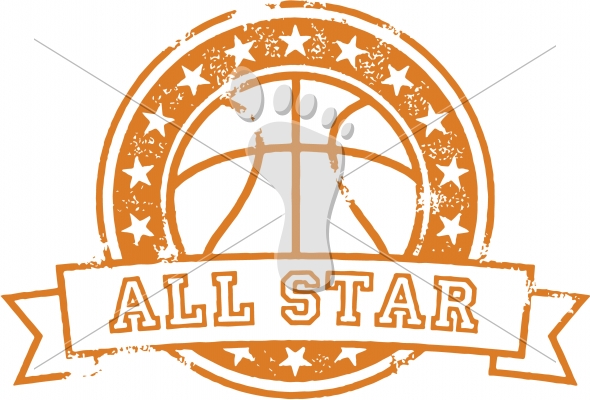 Basketball All Star Stamp