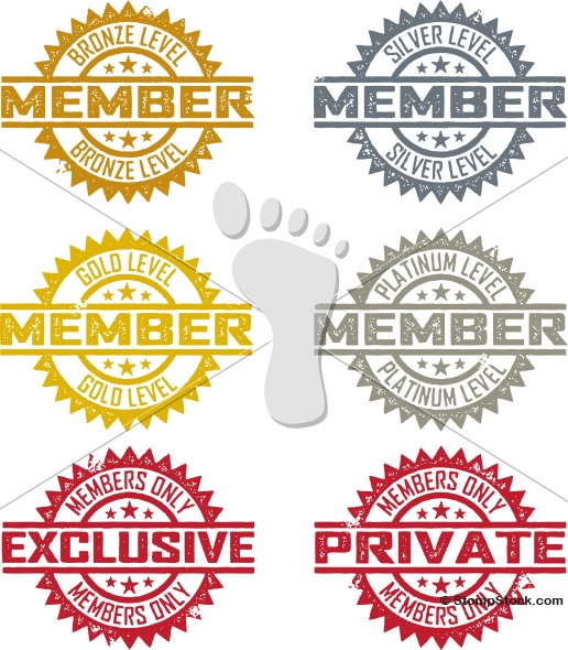Membership Badge Stamps