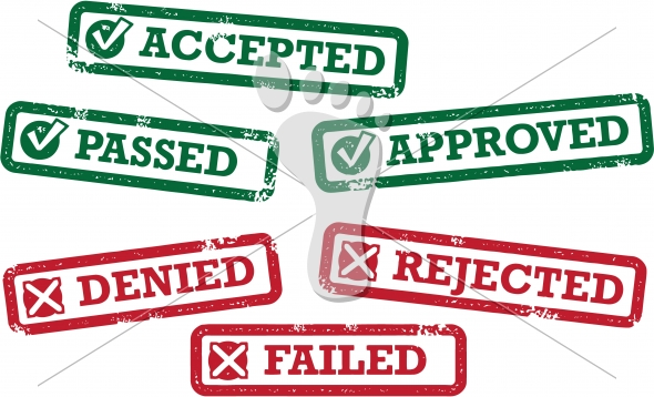 Accepted Approved Denied Rejected Stamps