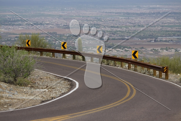 Sharp Curve – Desert Mountain Road