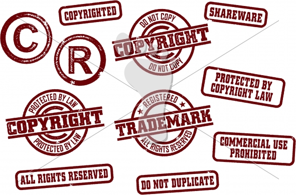 Copyright and Trademark Stamps