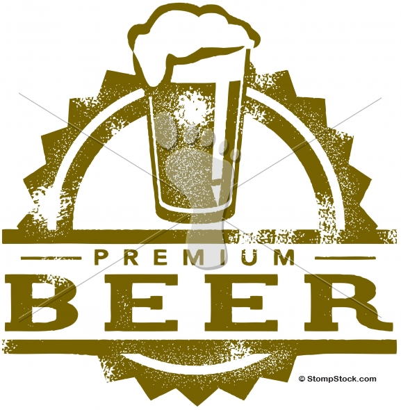 Premium Beer on Tap – Vintage Sign