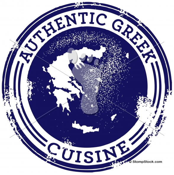 Authentic Greek Food Restaurant Graphic
