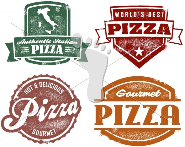 Vintage Style Pizza Pizzeria Graphics