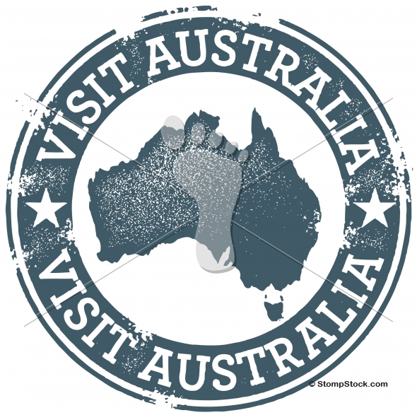 Vintage Australia Tourism Vector Graphic