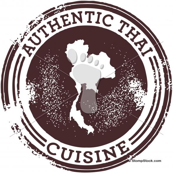 Authentic Thai Food Restaurant Graphic