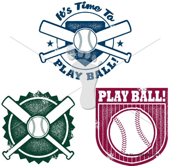 Play Ball! Baseball and Softball Vector Graphics
