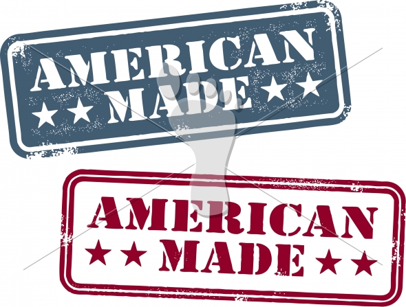 American Made Product Rubber Stamp Vector