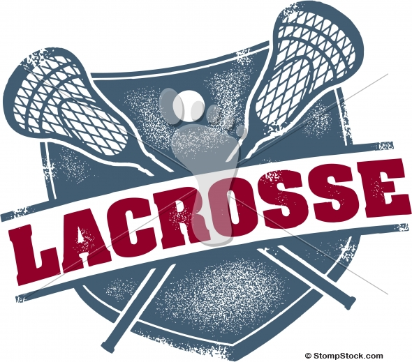 Vintage Style Lacrosse LAX Vector Graphic