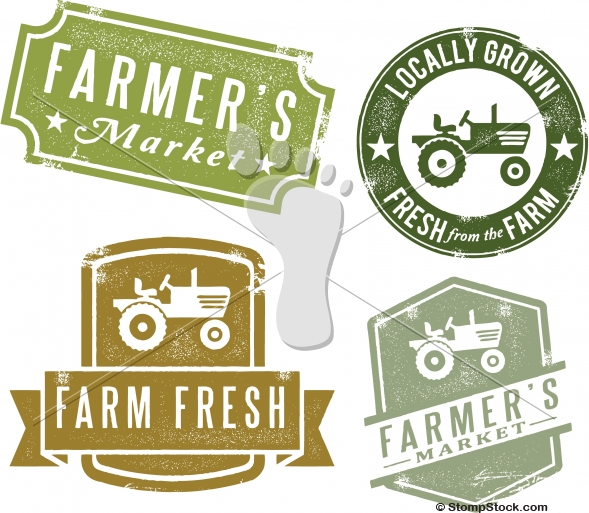 Vintage Farmers Market Vector Design