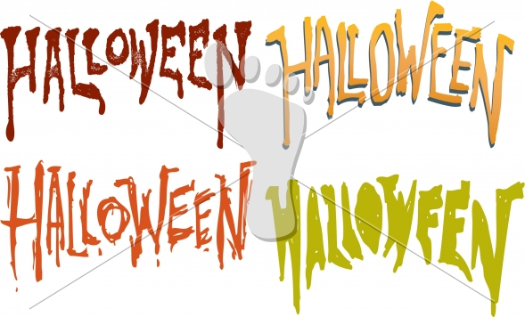 Custom Halloween Vector Text