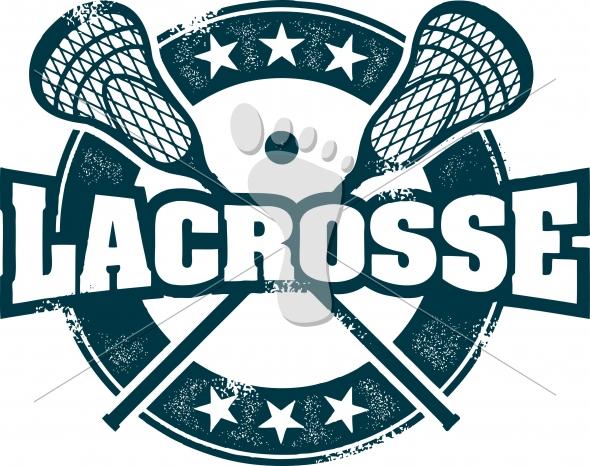 Vintage Lacrosse Sport Vector