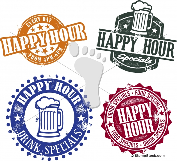 Happy Hour Bar Special Menu Design