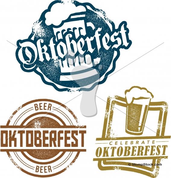 Oktoberfest Beer Festival Vector Design Logo