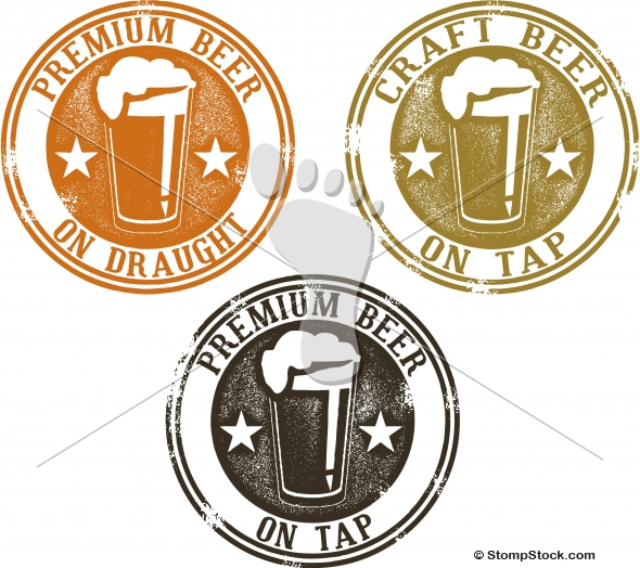 Premium Craft Beer Bar Menu Stamps