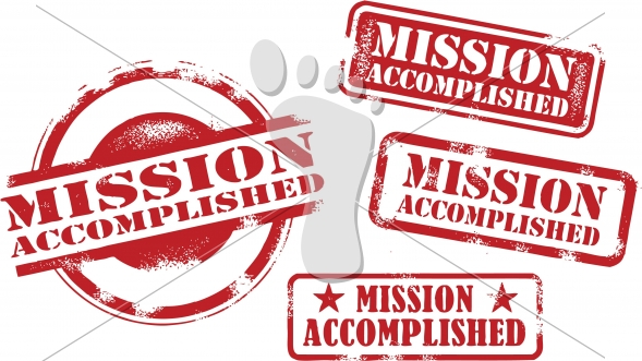 Mission Accomplished Vector Rubber Stamp