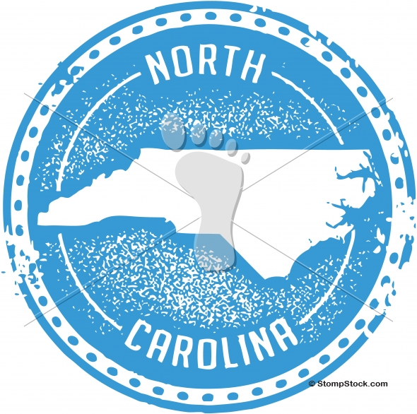 Vintage North Carolina USA State Stamp/Seal
