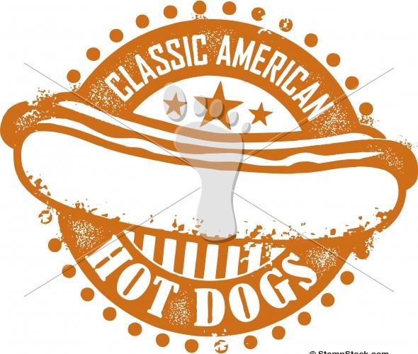 Vintage American Hot Dog Sign