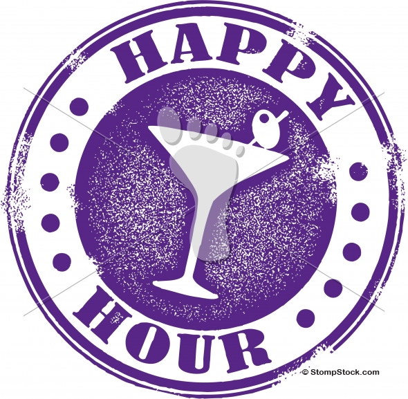 Happy Hour Bar Menu Design Stamp