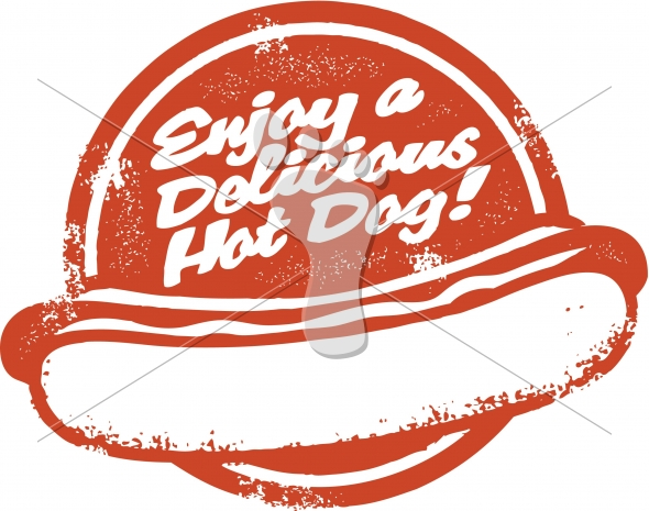 Enjoy a Delicious Hot Dog Vector Graphic