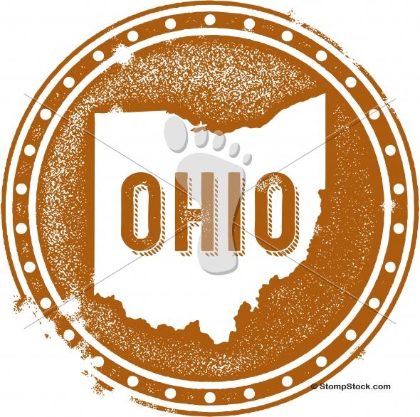 Vintage Ohio USA State Stamp/Seal