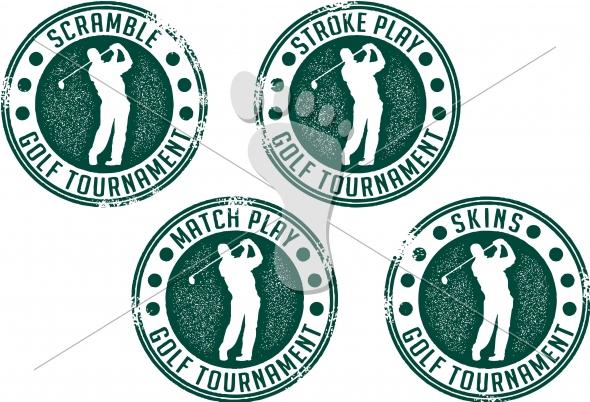 Golf Tournament Vector Logo Design