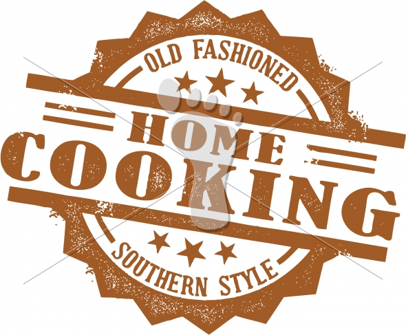 Home Cooking Recipe Stamp Design