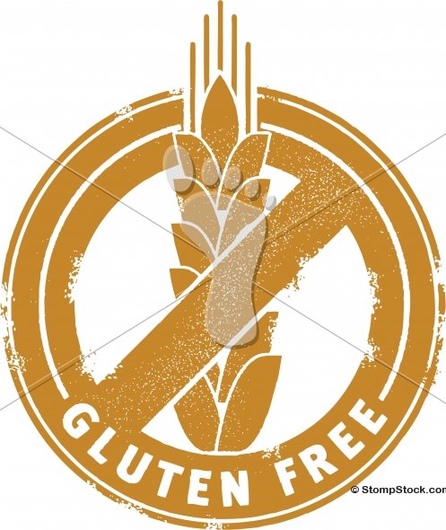 Gluten Free Food Menu Stamp