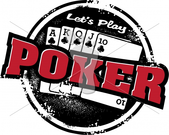 Poker Game Tournament Vector Graphic