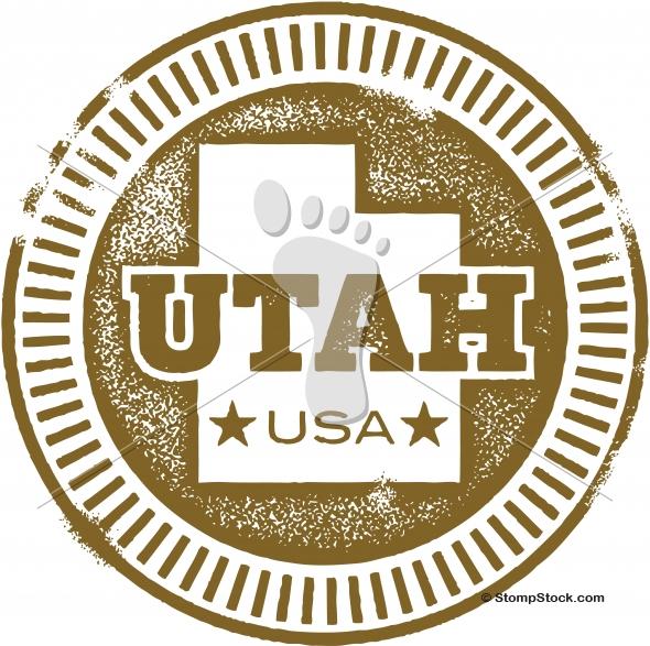 Vintage Style Utah USA State Stamp/Seal