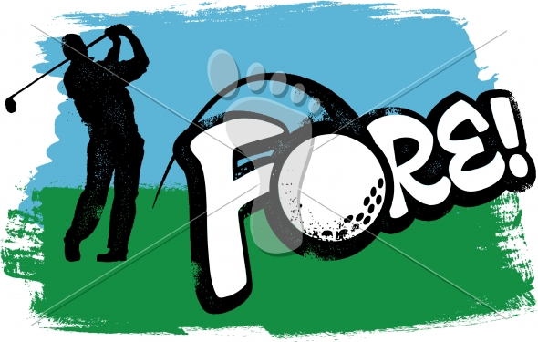 Golf Player Tournament FORE! Graphic