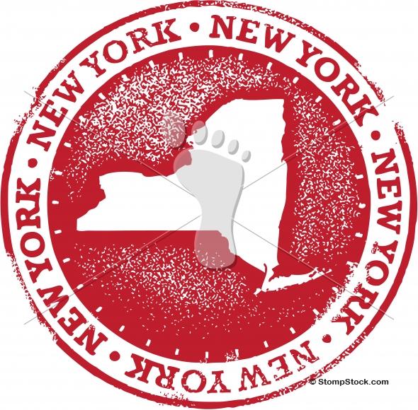 Vintage New York USA Stamp/Seal
