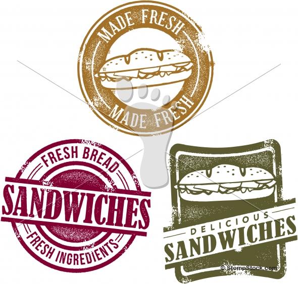 Vintage Style Deli Sandwich Graphics