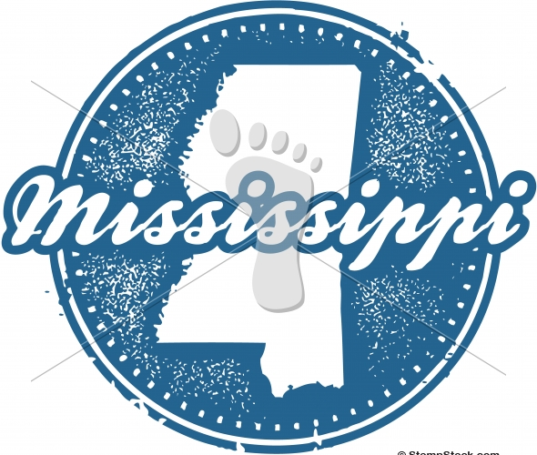 Vintage Mississippi USA State Stamp/Seal