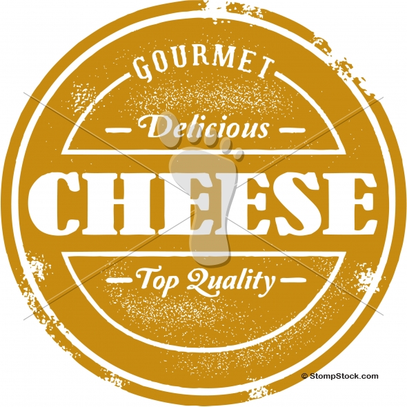 Vintage Style Cheese Vector Graphic